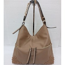 Stylish Shoulder Bag with Front Zippers